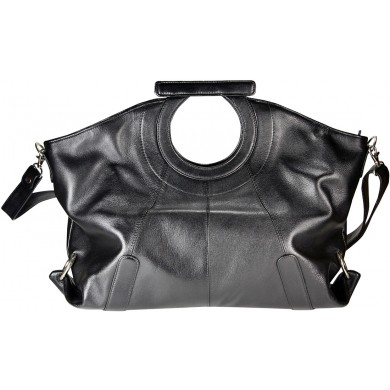 Genuine cow leather bag COWBAG115 Black