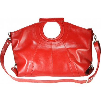 Genuine cow leather bag COWBAG115 Red