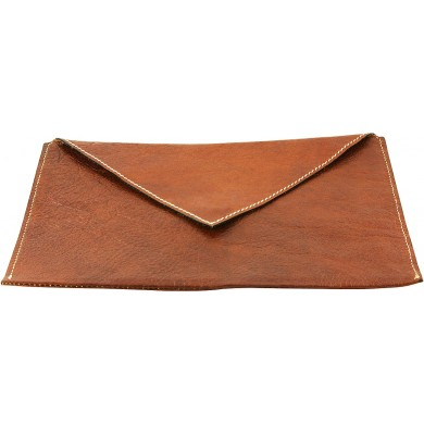 Genuine cow leather envelope COWENV01 Brown