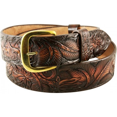 Genuine cow leather belt CVBELT004 Dark Brown