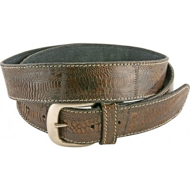 Genuine hen / chicken leather belt HBELT1-5 Brown