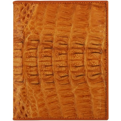 Genuine alligator leather wallet HKCM62T Tan