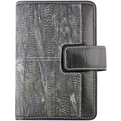 Genuine chicken leather organizer case HORG1 Black