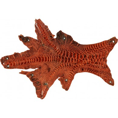 Genuine hen skin HSKIN01 Reddish Brown