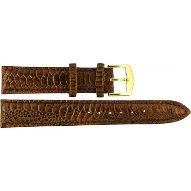 Genuine chicken / hen leather watch band HWB001 Brown