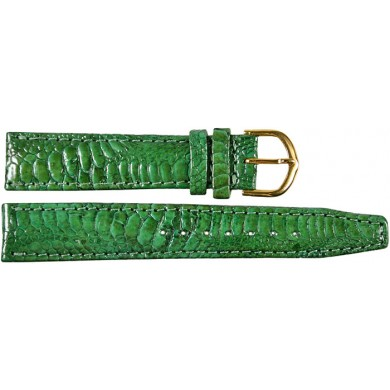 Genuine chicken / hen leather watch band HWB001 Green