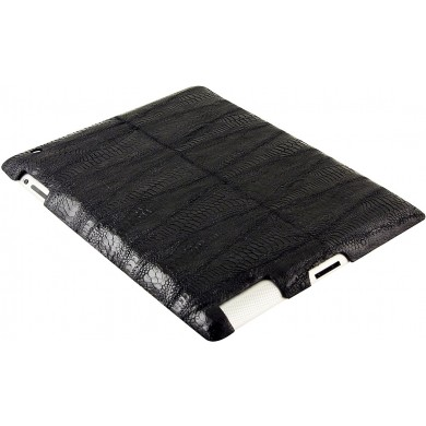 Genuine chicken / hen leather iPad 2 case IPAD2-HEN10 Black