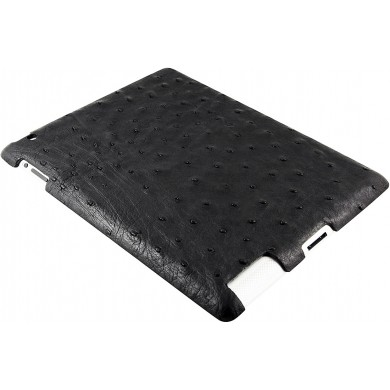 Genuine ostrich leather iPad 2 case IPAD2-OS10 Black