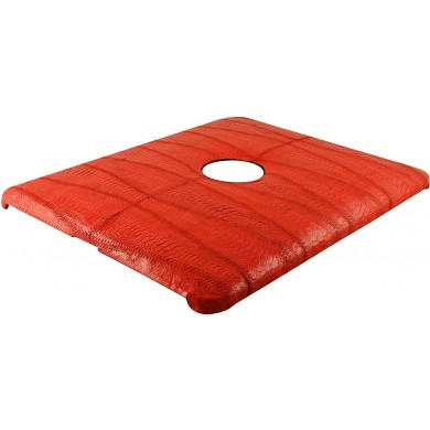 Genuine chicken / hen leather iPad case IPAD-HEN01 Red