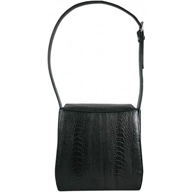 Genuine ostrich leather bag NSOLM02 Black