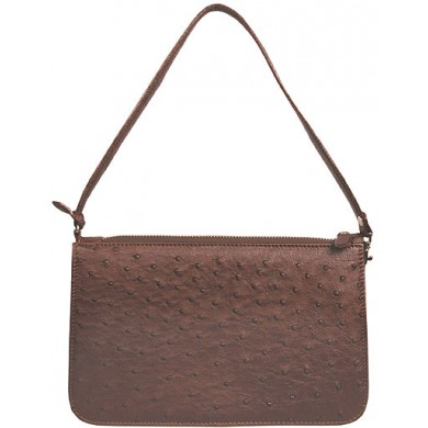 Genuine ostrich leather bag OSBAG001 Brown