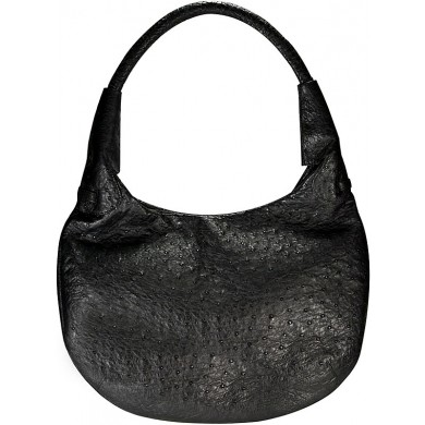 Genuine ostrich leather bag OSBAG002 Black
