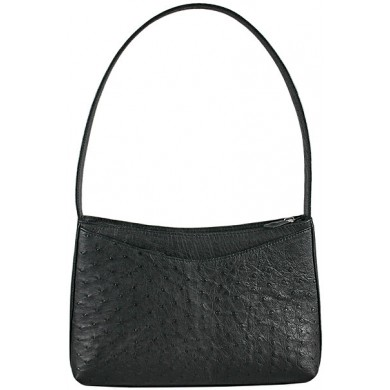 Genuine ostrich leather bag OSBAG159 Black