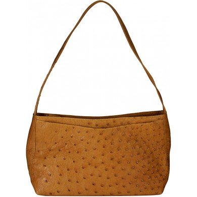 Genuine ostrich leather bag OSBAG159 Tan