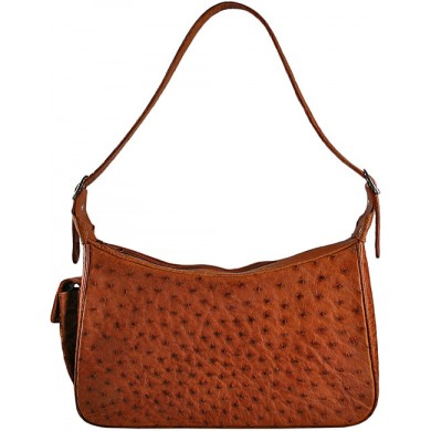 Genuine ostrich leather bag OSBAG182 Peanut