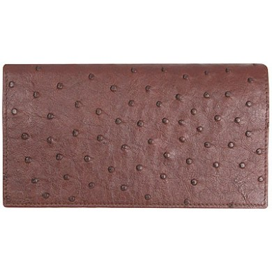 Genuine ostrich leather exclusive long wallet OSLW801E Brown