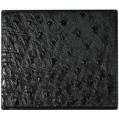 Genuine ostrich leather wallet OSSW004 Black