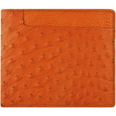 Genuine ostrich leather wallet OSW2-100A Peanut