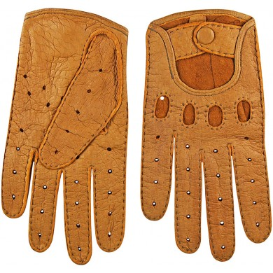 Genuine peccary leather gloves PECGL02 Tan