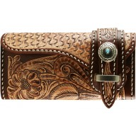 Genuine cow leather wallet CWLF253 Tan