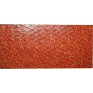 Genuine chicken leather panel HSKPAN01 Reddish Brown