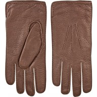 Genuine peccary leather gloves PECGL04 Brown