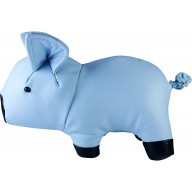 Genuine cow leather toy pig PIG01 Blue