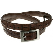 Genuine alligator leather belt 100CKP Brown