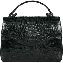 Genuine alligator leather bag 8805-11 Black