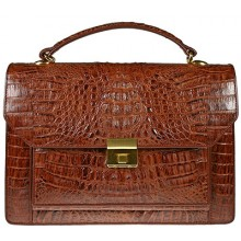 Genuine alligator leather briefcase 8829 Brown