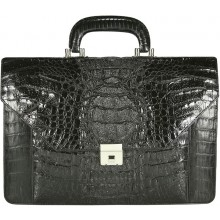Genuine alligator leather briefcase AL046-S Black