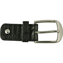 Alligator leather loop buckle ALBUCKLE01-13 Black
