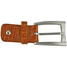 Alligator leather loop buckle ALBUCKLE01-13 Tan
