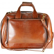 Genuine buffalo leather travel bag BBAG4528 Brown