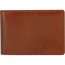 Genuine buffalo leather credit card holder BCC551 Brown