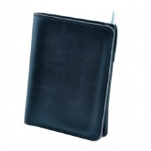 Premium cow leather handmade wallet EL-PM-2 Midnight Blue