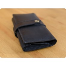 Premium cow leather handmade wallet EL-PM-3 Black