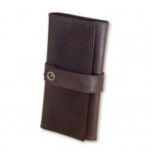 Premium cow leather handmade wallet EL-PM-3 Brown