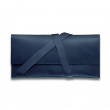 Premium cow leather handmade travel case EL-TK-1 Midnight Blue