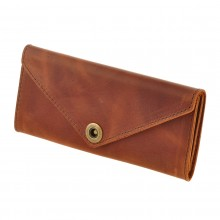 Premium cow leather handmade wallet EL-W-1 Cognac
