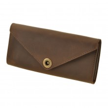 Premium cow leather handmade wallet EL-W-1 Brown