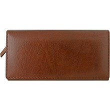 Genuine buffalo leather long wallet BW15 Brown