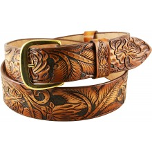 Genuine cow leather belt CVBELT004 Brown