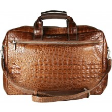 Genuine alligator leather briefcase / laptop case DCM58 Brown