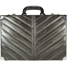 Genuine eel leather attache case EEL-ATC01 Grey