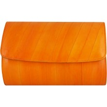 Genuine eel leather bag EEL-BEVE50 Orange