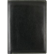 Genuine cow leather wallet FA201A-D Black / MC