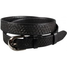 Genuine fish leather belt FBELT01-12 Black