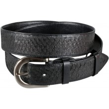 Genuine fish leather belt FBELT01-15 Black