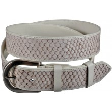 Genuine fish leather belt FBELT01-15 White